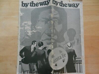 "1929 1St Edition ""by The Way"" Santa Fe Rail Road Travel Brochure/time Table"