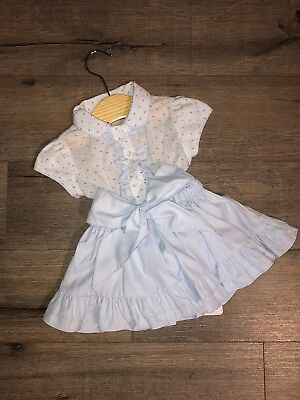 Pretty Originals 6 Months Blue dress Baby Girl BNWT