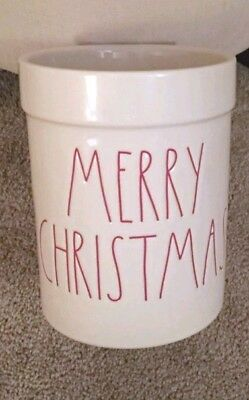 OMG! RARE RAE DUNN MERRY CHRISTMAS TOOLS UTENSIL HOLDER Crock
