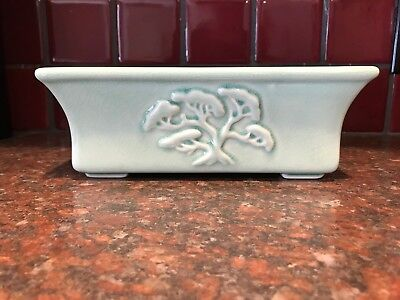 Japanese Chinese? Antique Vintage Celadon Crackle Glaze Ceramic Bonsai Planter