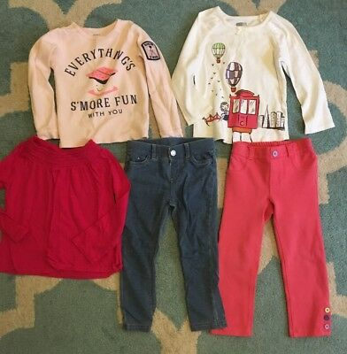 Lot Of Girls Clothes Size 3T Outfits Carters Crazy 8 Fall Winter