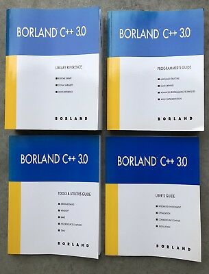 Borland C++ 3.0 Library Refer, User's, Tools & Utilities and Programmers Guide