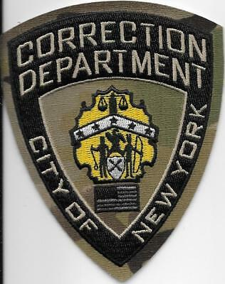 New York City Correction Dept Doc Jail Prison Camo Subdued Corrections Nyc Patch