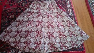 Vintage 70s paisley A line skirt