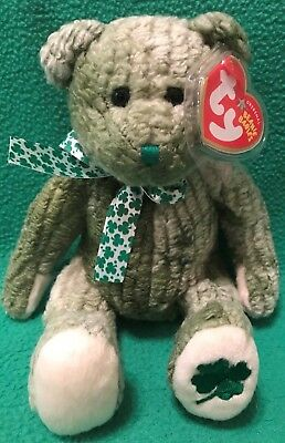 29d32ad17a8 TY Beanie Baby MCWOOLY the St. Patrick s Day Bear 8