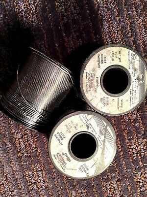 KESTER SOLDER - 3 ONE POUND SPOOLS -  63 Sn (TIN) and 37 Pb (lead) -031 Diameter