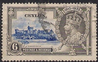 Ceylon 1935 KGV 6cts Silver Jubilee SG 379 ( H1170 )