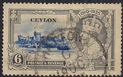 Ceylon 1935 KGV 6cts Silver Jubilee SG 379 ( H1172 )