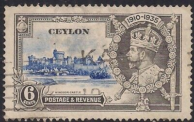 Ceylon 1935 KGV 6cts Silver Jubilee SG 379 ( H1173 )