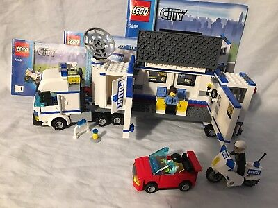 Lego City Play Set 7288 Mobile Police Unit 100 Complete Mib