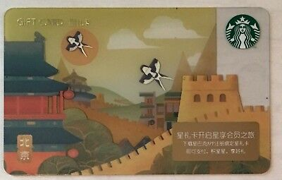Starbucks 2018 China City Beijing Card Great Wall New York Sister City
