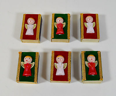 6 Vintage Handcrafted Christmas Angel Matchboxes, No Matches * Made in Italy