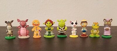 SHREK Character Cake Toppers 10 Figures Fairytale Toys Collectibles