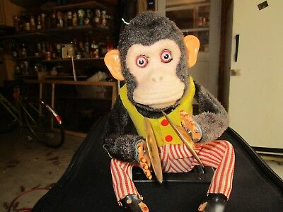 Vintage Toy Monkey With Symbols Battery Operated Collectibles