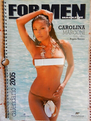 SUPER SEXY!! Calendario 2005 di Carolina Marconi - For Men Magazine