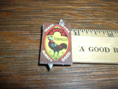 Vintage Mayo's Tobacco Tag Always Good with Rooster