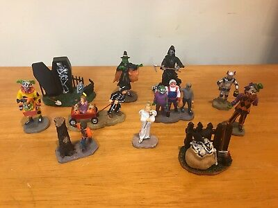 Lemax Spooky Town Lot Of 11 Figures