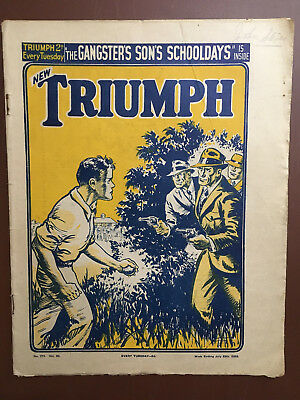 Ultra Rare Superman Triumph Comic #771 1939 Technically First Issue In Uk