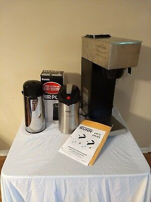 Bunn Vpr-APS Pourover Airpot Coffee Brewer comes with Both 2.2 L & 3.0 L Ex cond