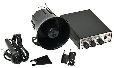 electronic horn animal & alarm 12 volt 35 different sounds PA system with mic