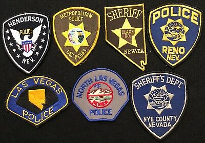 Nevada Police Patch Mixed Lot - Sheriff Very Old