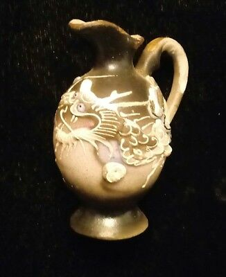 Miniature Hand Painted Gold Trimmed Dragon Pitcher
