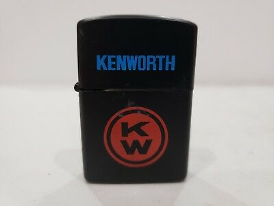 Vintage New KENWORTH KW LOGO Flip Top Black Matte LIGHTER / NEVER LIT
