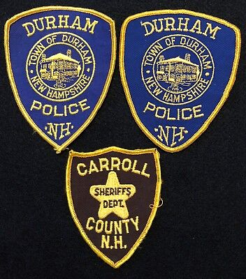 New Hampshire Police Patch Mixed Lot - Sheriff Very Old