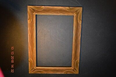 Old Arts & Crafts Picture Frame Mission Era  * Piecrust Batwing