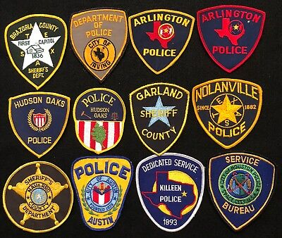 Texas Police Patch Mixed Lot - Sheriff Very Old