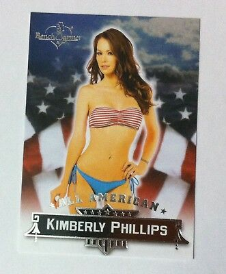 Kimberly Phillips 2015 Benchwarmer All American chase card # 14