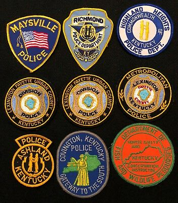 Kentucky Police Patch Mixed Lot - Sheriff Very Old