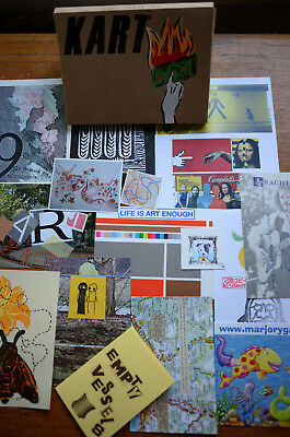 KART 61  (Mail Art, FLUXUS ,Visual Poetry,DADA, Zine in a box) rare/early issue