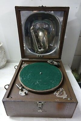Very Old Portable Decca Wind Up Gramophone - Decca Junior - Very Rare - L@@k