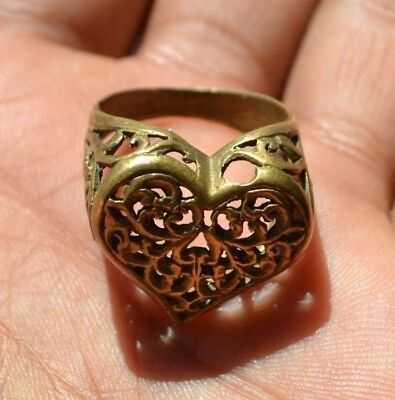 EXTREMELY Ancient ROMAN BRONZE AMAZING RING museum quality ARTIFACT RING