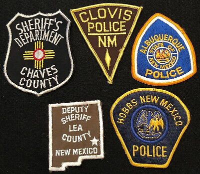 New Mexico Police Patch Mixed Lot - Sheriff Very Old