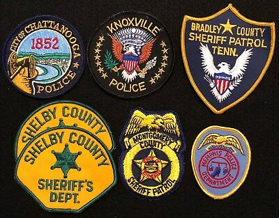 Tennessee Police Patch Mixed Lot - Sheriff Very Old