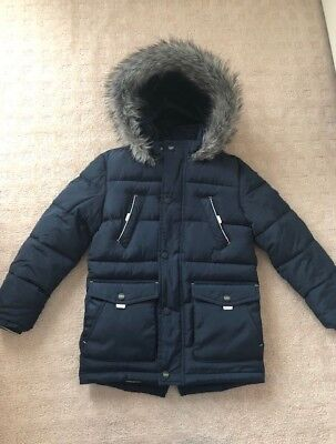 Baker by Ted Baker Boys Hooded Winter Jacket/Parker sz 8. *Absolutely adorable*