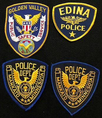 Minnesota Police Patch Mixed Lot - Sheriff Very Old