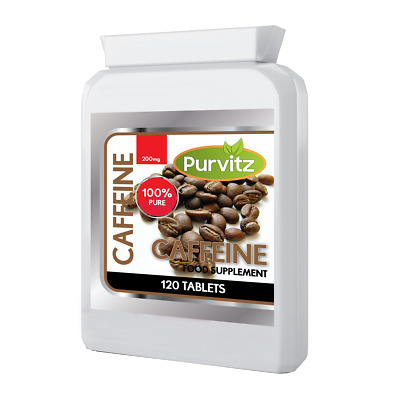 Pure Caffeine Anhydrous Tablets Increase Energy, Focus, More Alert Less Fatigued