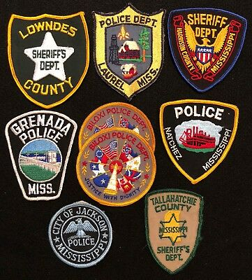Mississippi Police Patch Mixed Lot - Sheriff Very Old