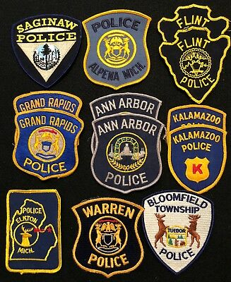 Michigan Police Patch Mixed Lot - Sheriff Very Old