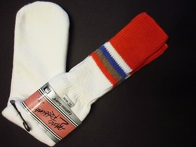 NEW NOS VINTAGE NWT MENS TUBE SOCKS MARC ROBBINS 1970s HTF COLOR RED USA