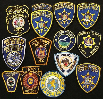 New York Police Patch Mixed Lot - Sheriff Very Old