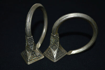 Rare Ancient VIKING SILVER EARRINGS 9-10 AD century ARTIFACT Magnificent