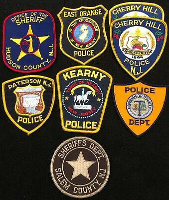 New Jersey Police Patch Mixed Lot - Sheriff Very Old