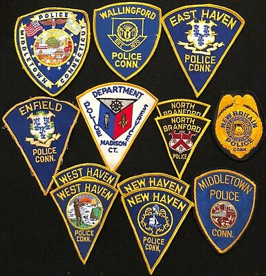 Connecticut Police Patch Mixed Lot - Sheriff Very Old