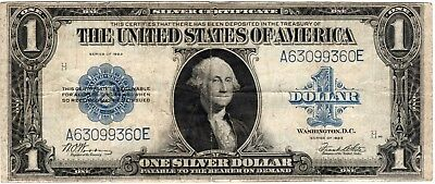 1923 $1 Silver Certificate WOODS-WHITE Fr-238  NICE! BRIGHT!! MUST TAKE A LOOK!!