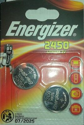 2X ENERGIZER 2450 CR2450 DL2450 Lithium 3V Coin Cell Free post UK