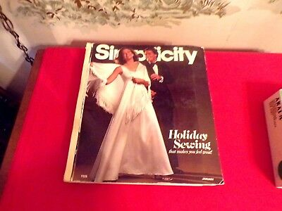 Vintage Simplicity 1975 Holiday Sewing Patterns Store Counter Large Catalog book